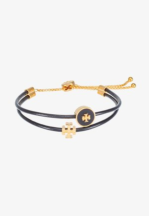 LOGO SLIDER BRACELET - Armbånd - tory gold-coloured/black