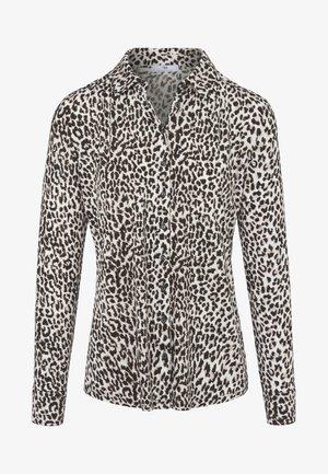 MIT TRENDIGEM LEO-DRUCK - Button-down blouse - off-white