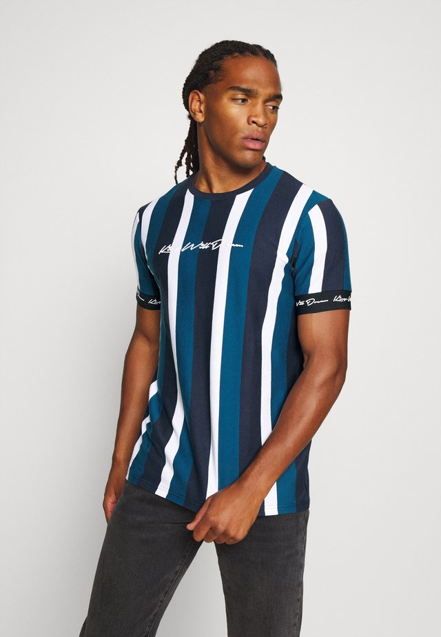KINGSLEY - T-shirt print - blue/black/white