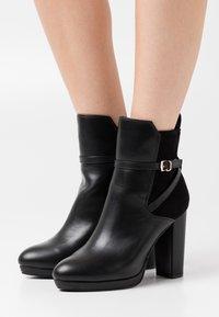 Buffalo - MARIELA - High heeled ankle boots - black - 0