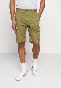 Tommy Jeans - WASHED CARGO - Short - uniform olive - 0