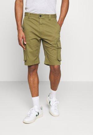 WASHED CARGO - Shorts - uniform olive