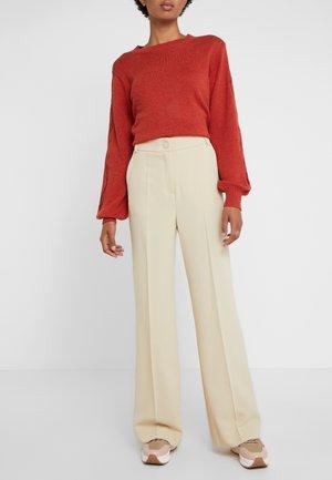 Trousers - verdant beige