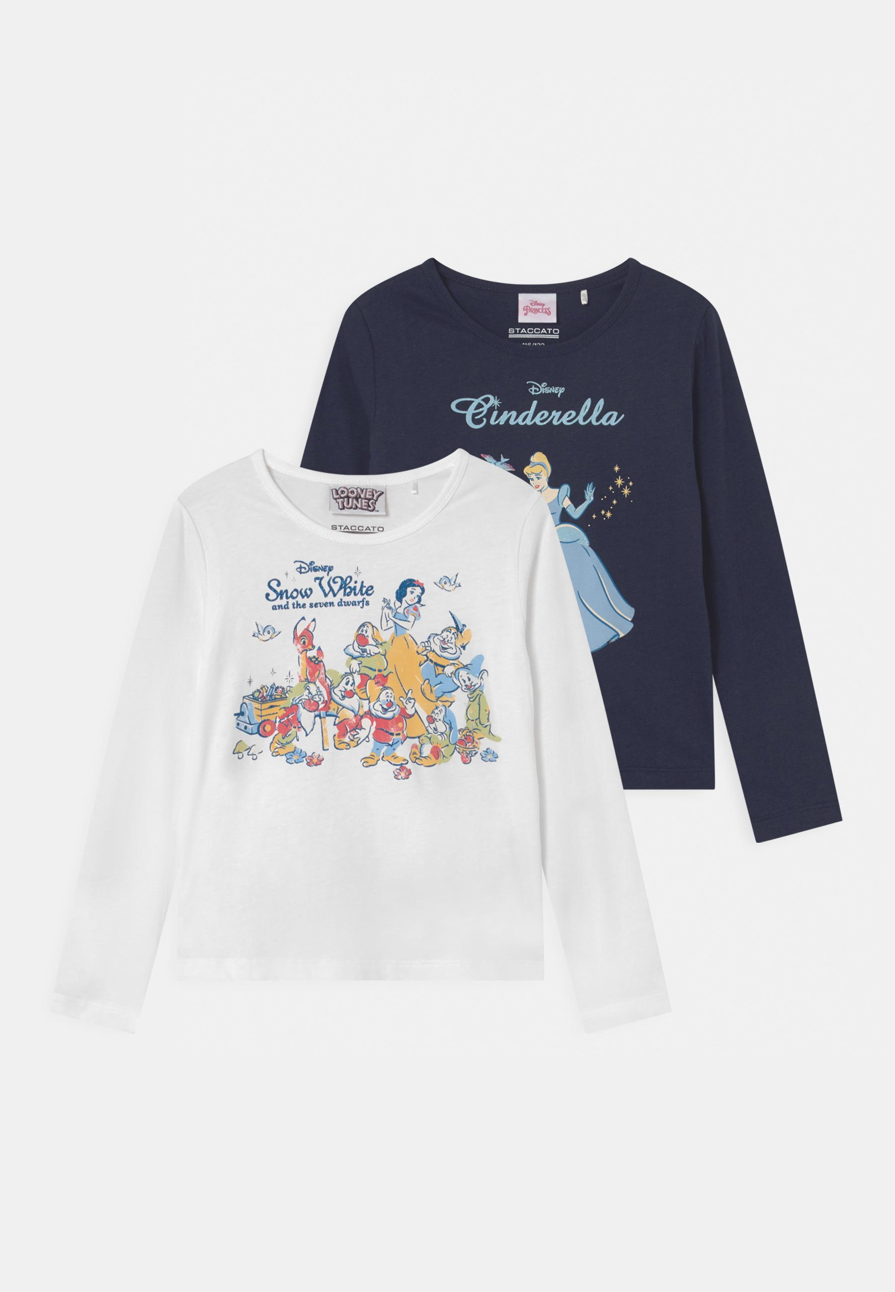 Kids DISNEY PRINCESSES SNOW WHITE CINDERELLA 2 PACK - Long sleeved top