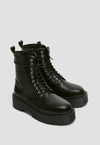 PULL&BEAR - Veterboots - black - 3