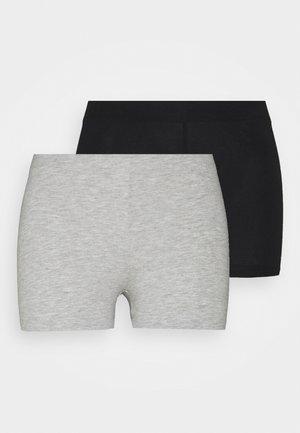 2 Pack - Shorts - black/light grey