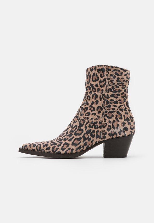 ZENZERIO TRONCHETTO STAMPA MACULATA - Classic ankle boots - multicolor/nero/beige