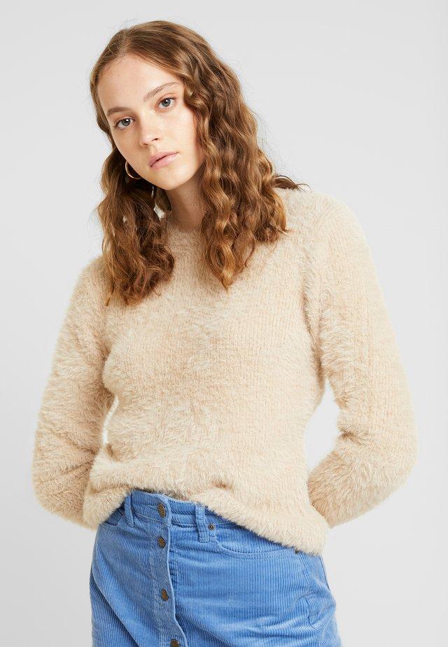 FUZZY KNIT - Pullover - beige