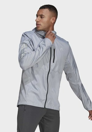 OWN THE RUN HOODED WINDBREAKER - Tuulitakki - grey