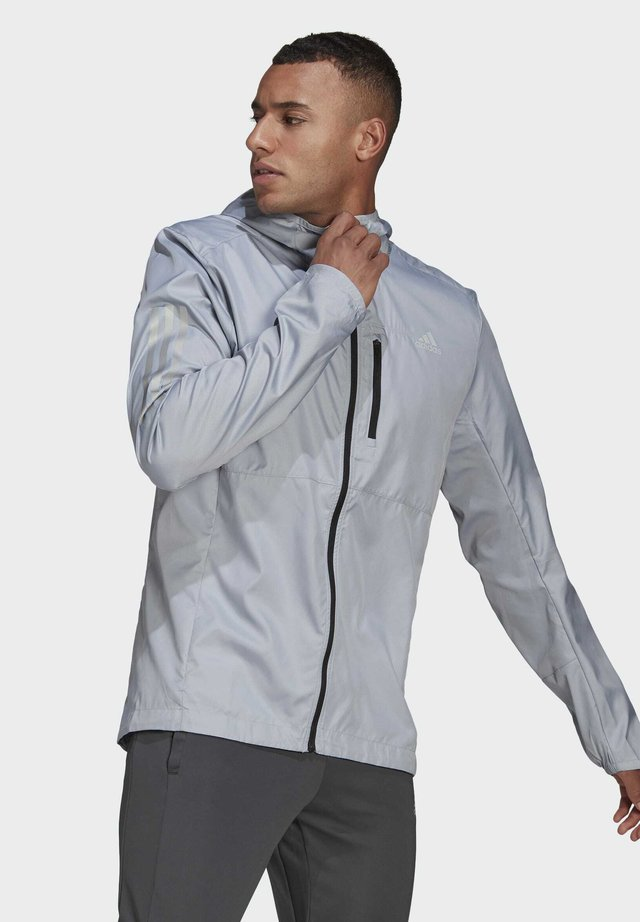 OWN THE RUN HOODED WINDBREAKER - Veste coupe-vent - grey