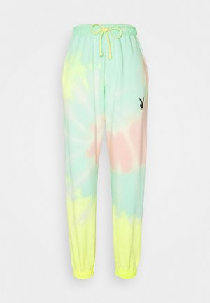 PLAYBOY TIE DYE JOGGER - Tracksuit bottoms - multi