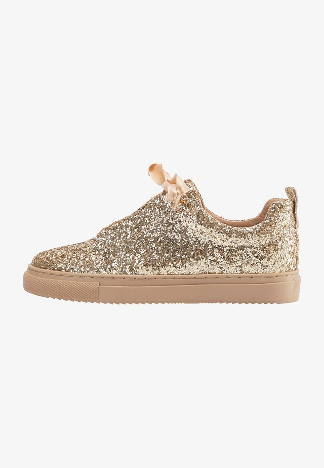 Sneakers laag - gold glitter