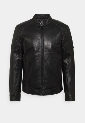 DERRY - Leren jas - black