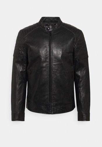 DERRY - Leather jacket - black