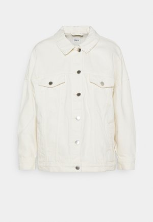 ONLSAFE LIFE OVERSIZE JACKET - Denim jacket - ecru
