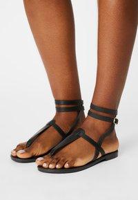 Even&Odd Wide Fit - T-bar sandals - black - 0