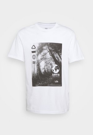RELAXED FIT TEE BABYTAB - T-shirt med print - white