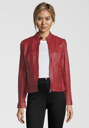 URSULA - Veste en cuir - red