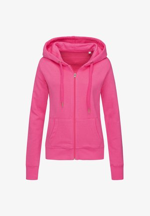 Zip-up sweatshirt - sweet pink