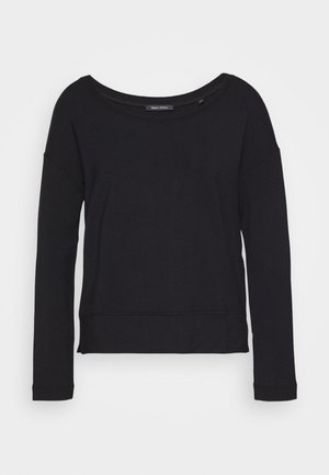 LONG SLEEVE BOAT NECK - Langærmede T-shirts - black