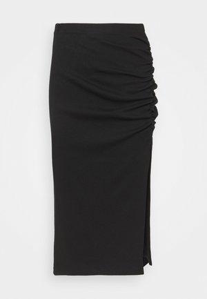 ONLMAYA ROUCHING SKIRT  - Falda de tubo - black