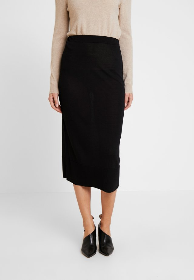 MARIE SKIRT - Falda de tubo - pitch black