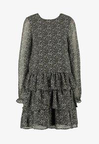 Vero Moda Tall - VMLULU FLOUNCE SHORT DRESS - Sukienka letnia - black/lulu - 6