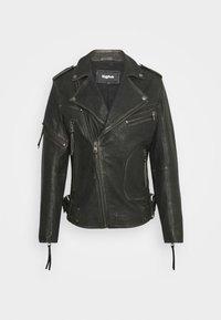 NEVAN - Leather jacket - vintage black