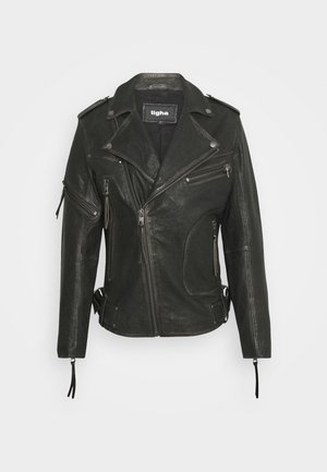 NEVAN - Leather jacket - vintage black