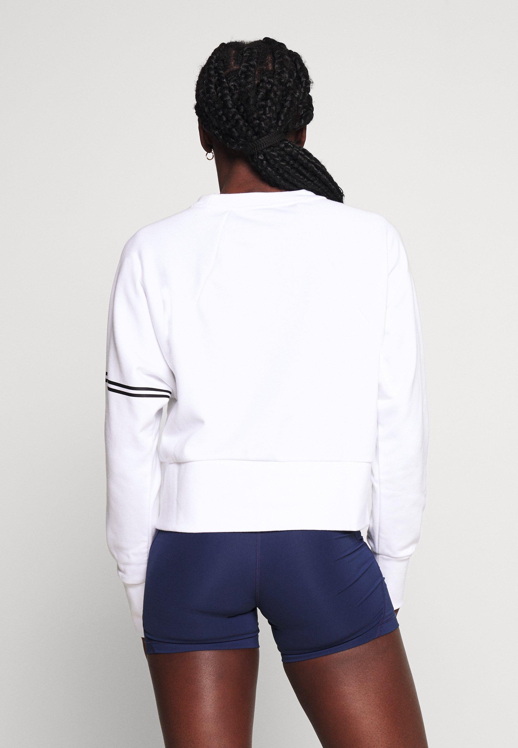 Nike Performance DRY GET FIT - Sweatshirt - white/black nQ8ir
