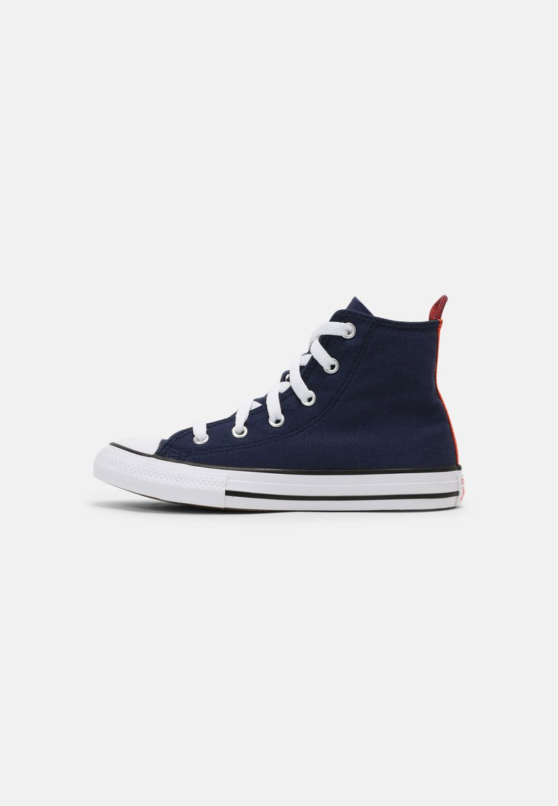 Converse - CHUCK TAYLOR ALL STAR SUMMER COLOR HI UNISEX - High-top trainers - midnight navy/bright poppy/converse black