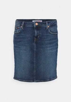 CLASSIC SKIRT - Minisukně - dark blue denim