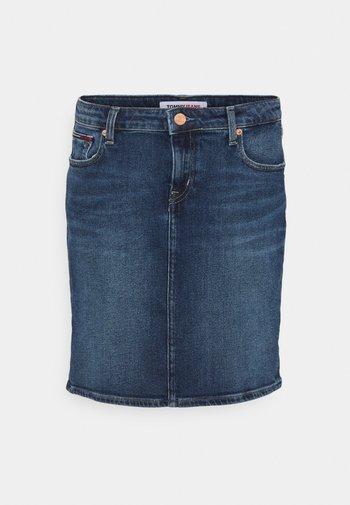 CLASSIC SKIRT - Mini skirt - dark blue denim