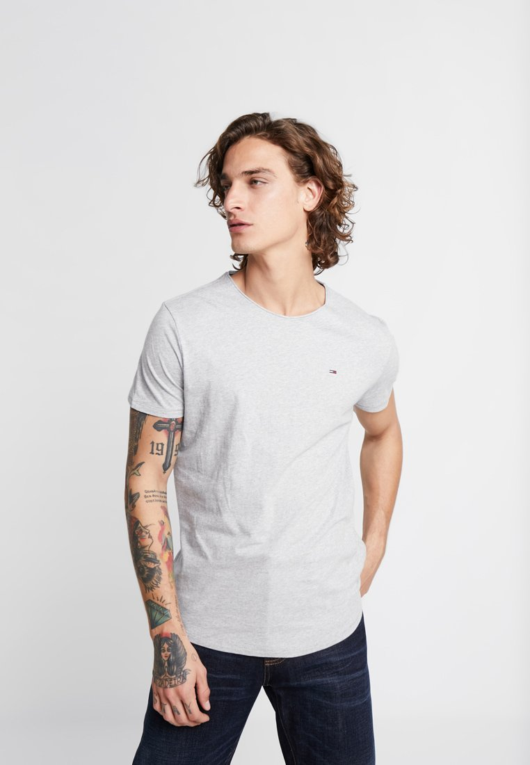 Tommy Jeans - ESSENTIAL JASPE TEE - Basic T-shirt - grey