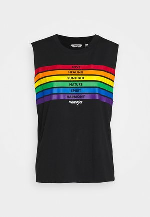 PRIDE TANK - Topper - black
