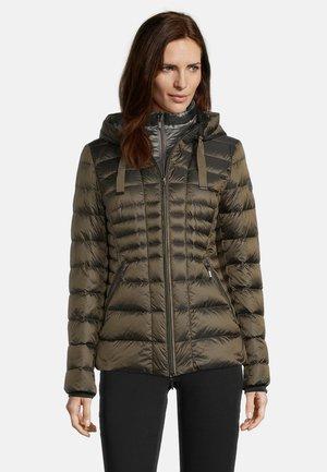 MIT KAPUZE - Down jacket - dark khaki