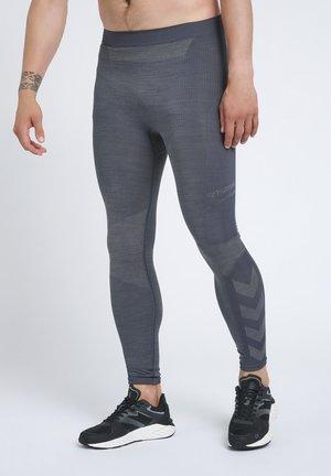COOPER SEAMLESS TIGHTS - Pantalon de survêtement - asphalt/quiet shade melange