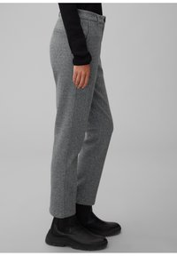 Marc O'Polo - MIT FISCHGRAT-MUSTER - Trousers - multi/black - 3