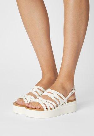 BROOKLYN STRAPPY - Platform sandals - oyster