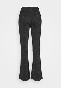 ONLY - ONLPAIGE FLARED GLITTER PANT - Trousers - black - 7