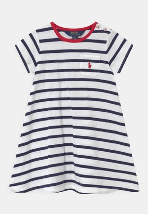 SWING  - Jersey dress - white/french navy