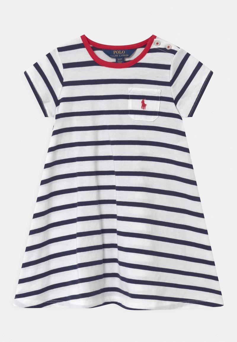 Polo Ralph Lauren - SWING  - Žerzejové šaty - white/french navy