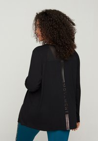 Active by Zizzi - MIT PRINTDETAILS - Long sleeved top - black - 2