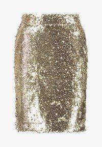 Blendshe - BSCORAS SLIM - Pouzdrová sukně - gold - 3