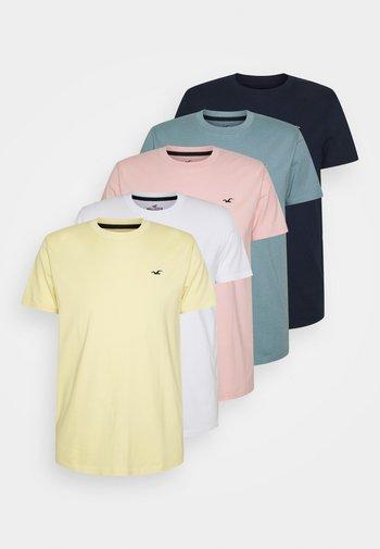 MULTI SEASONAL CREW 5 PACK - T-shirt - bas - mehrfarbig