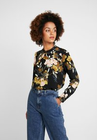 ONLY - ONLNEW MALLORY  BLOUSE - Blusa - black - 0