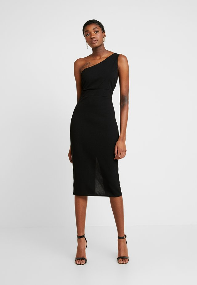 ONE SHOULDER MIDI DRESS - Cocktail dress / Party dress - black