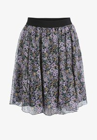 SET - A-line skirt - black violett - 5