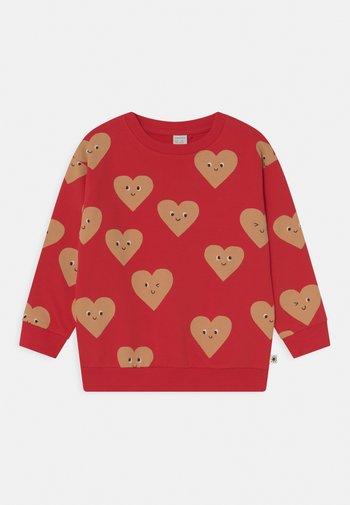 HEARTS UNISEX - Sweatshirt - red