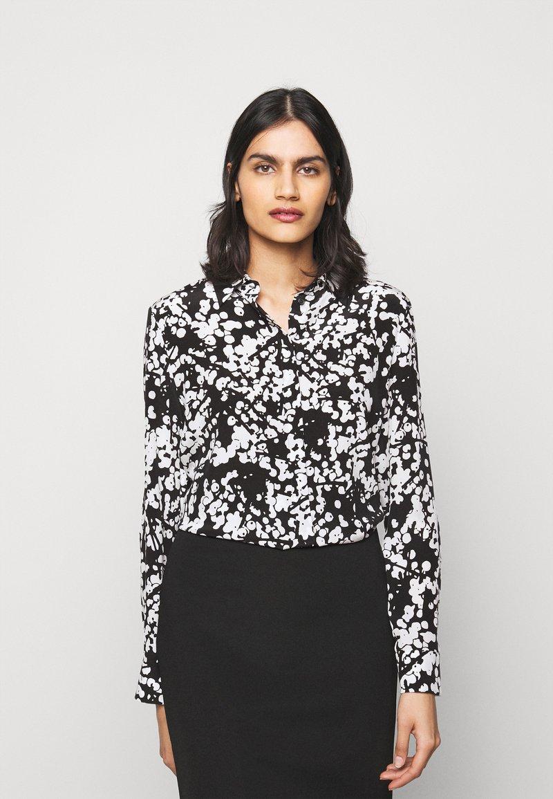 HUGO - ELIFIA - Button-down blouse - black
